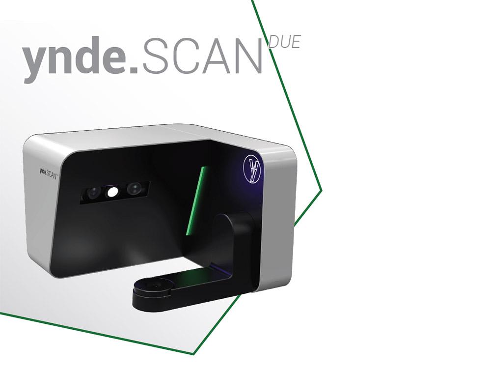 immagine di uno scanner dentale con marchio Yndetech, ynde.scan due