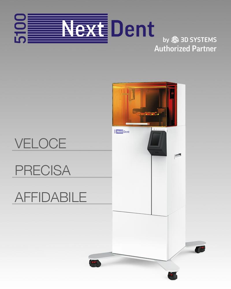 aiop 2019 nextdent5100 stampante 3D yndetech
